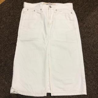 ギャップ(GAP)のGAP 白デニムスカート(ひざ丈スカート)
