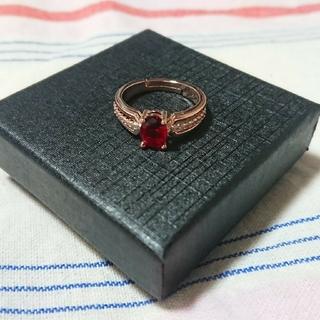 目を引く赤の輝き!!レッドダイヤモンドリング(リング(指輪))