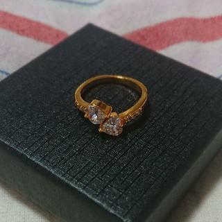 手元もかわいく秋の装い♪イエローゴールド&ダイヤモンドリング(リング(指輪))