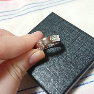 シンプルだけど存在感がある!プラチナ&ダイヤモンドリング(リング(指輪))