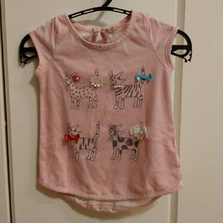 シマムラ(しまむら)のしまむら Tシャツ 90 ネコ ピンク(Tシャツ/カットソー)