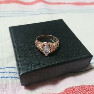 可憐なフラワーが咲く!!ピンクゴールド&ダイヤモンド(リング(指輪))