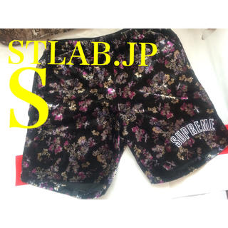 S 19AW Supreme Floral Velour Short ショーツ