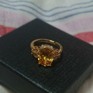 レトロな可愛さ!!イエローゴールド&イエローダイヤモンドリング(リング(指輪))