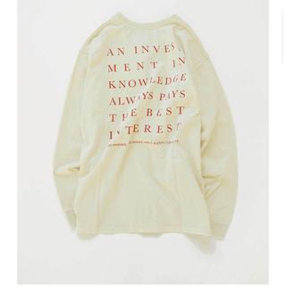 トゥデイフル(TODAYFUL)のTODAYFUL / Backprint Long T-Shirts(Tシャツ(長袖/七分))