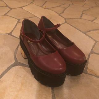 メリージェニー(merry jenny)のmerryJenny 厚底 パンプス(ローファー/革靴)