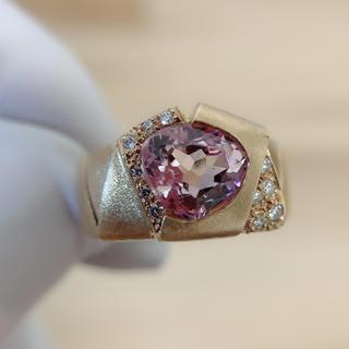 K18クンツァイト指輪(リング(指輪))