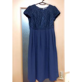 SOIR - ワンピース ドレス ネイビー 定価約27000円