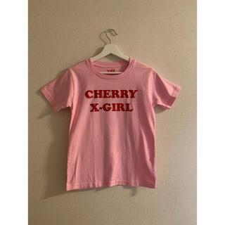 エックスガール(X-girl)のX-girl cherry baby ピンクTシャツ(Tシャツ(半袖/袖なし))
