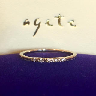 アガット(agete)のagete ♡ k18 ダイヤ 0.05ct リング(リング(指輪))