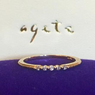 アガット(agete)のagete ☆ k18 ダイヤ 0.05ct リング(リング(指輪))