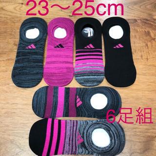 adidas - ☆新品☆ adidas レディース ソックス 23〜25cm 6足セット