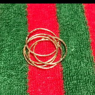 ゴールド5重リング❣️(リング(指輪))