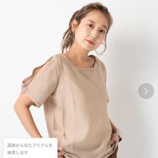 カスタネ(Kastane)のカスタネ  袖スリットサテンT(Tシャツ(半袖/袖なし))