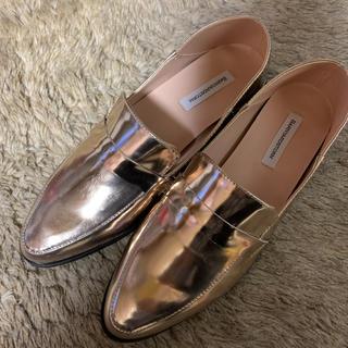 バンヤードストーム(BARNYARDSTORM)のBARNYARDSTORM ★2ウェイローファー ピンクゴールド 未使用(ローファー/革靴)
