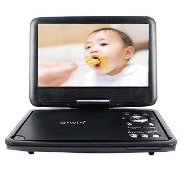 アーウィン 9インチ ポータブルDVD&マルチプレーヤー APD-903N スマホ/家電/カメラのテレビ/映像機器(DVDプレーヤー)の商品写真