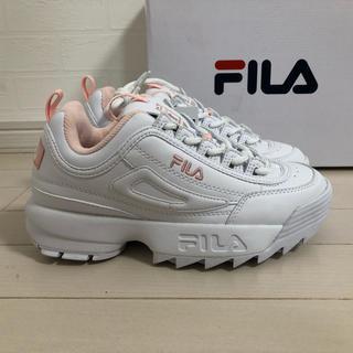 FILA - 【新品未使用】23.5 FILA disruptor2 スニーカー ピンク