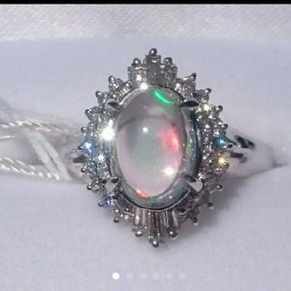 ★Miurin様専用★Pt900ウォーターオパール&ダイヤリング(リング(指輪))