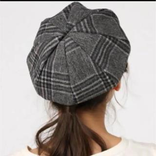 イーハイフンワールドギャラリー(E hyphen world gallery)のチェックベレー帽(ハンチング/ベレー帽)