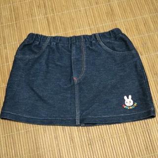 ミキハウス(mikihouse)のMIKI HOUSE デニムスカート Sサイズ 70~80cm(ワンピース)