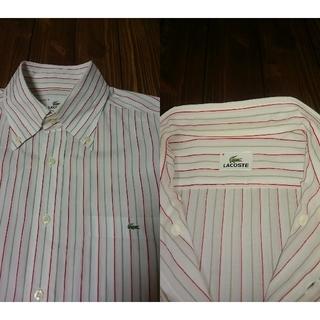 LACOSTE - 【日本製】ラコステ LACOSTE マルチカラーストライプ ボタンダウンシャツ