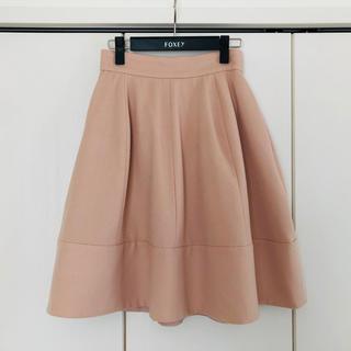 FOXEY - フォクシー ふんわりスカート カシミヤ ウール 38 ピンク ピーチ