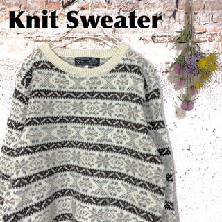 グリモワール(Grimoire)のレトロ古着 ノルディック柄セーター ニット knit wear(ニット/セーター)