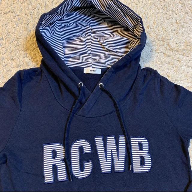 RODEO CROWNS WIDE BOWL(ロデオクラウンズワイドボウル)のロデオクラウンズ ボーダー パーカー S レディースのトップス(パーカー)の商品写真