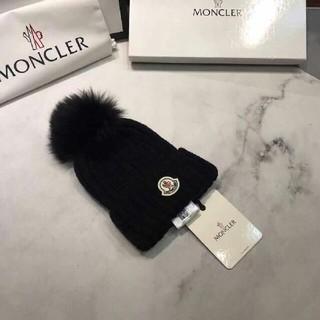 MONCLER - モンクレール ニット帽 ブラック