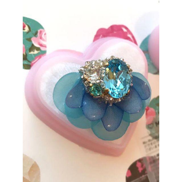 mu_mu のphantom flower nico リング ブルー レディースのアクセサリー(リング(指輪))の商品写真
