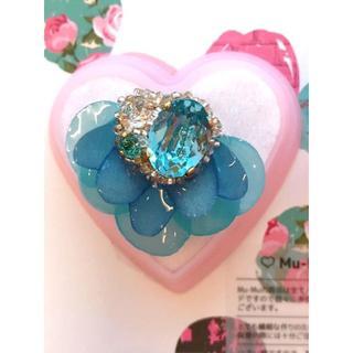 mu_mu のphantom flower nico リング ブルー(リング(指輪))