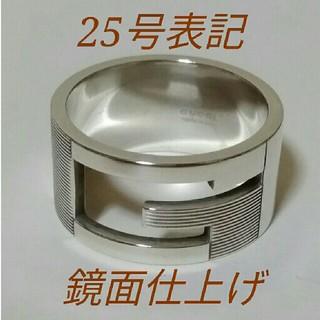 グッチ(Gucci)の25号表記 GUCCI Gリング ワイド ブランデッド リング 指輪 24号(リング(指輪))