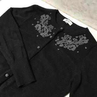 ジユウク(自由区)の【美品】自由区 刺繍☆長袖カーディガン(カーディガン)