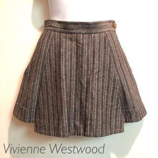 ヴィヴィアンウエストウッド(Vivienne Westwood)のヴィヴィアンウエストウッド ストライプキュロットスカート インポート(ミニスカート)