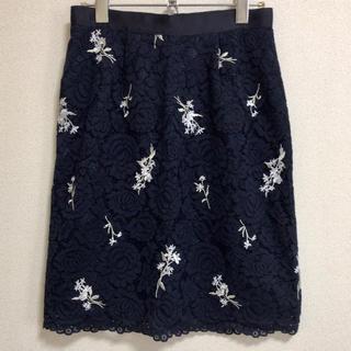 ミッシュマッシュ(MISCH MASCH)のMISCH MASCH 刺繍レーススカート(ひざ丈スカート)