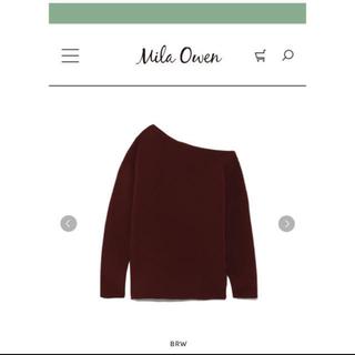 ミラオーウェン(Mila Owen)のmila  owen リップル編みワンショルダーニット(ニット/セーター)