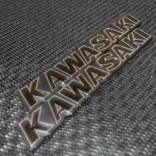 カワサキ - ⭐激安⭐Kawasakiエンブレム ブラック2枚セット!
