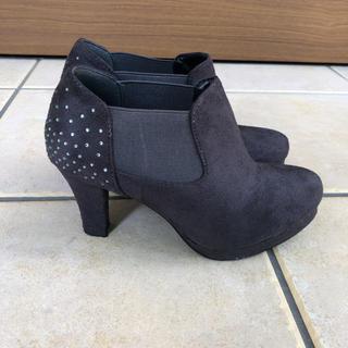 グレー ショートブーツ ブーティ 靴(ブーティ)