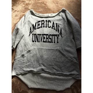 アパルトモンドゥーズィエムクラス(L'Appartement DEUXIEME CLASSE)のL'Appartement AMERICANA ビッグポケットスウェット(Tシャツ(長袖/七分))