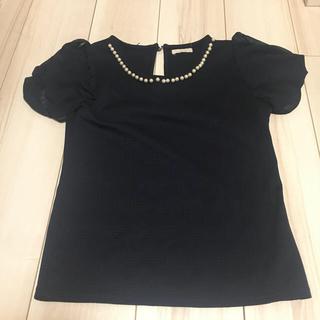 ミーア(MIIA)のMIIA美品黒カットソー(カットソー(半袖/袖なし))