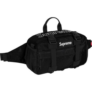 Supreme - Supreme Waist Bag Black 2019FW WEEK1 新品
