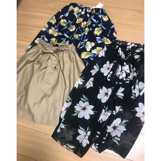 ワンウェイ(one*way)のスカート&スヌード3枚まとめ売り(ひざ丈スカート)