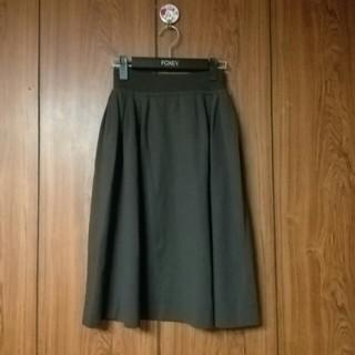 フォクシー(FOXEY)のフォクシーfoxeyダークブラウン人気のニットスカート(ロングスカート)