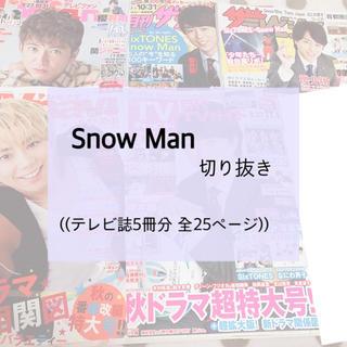 ジャニーズジュニア(ジャニーズJr.)のSnow Man テレビ誌 切り抜き(アート/エンタメ/ホビー)