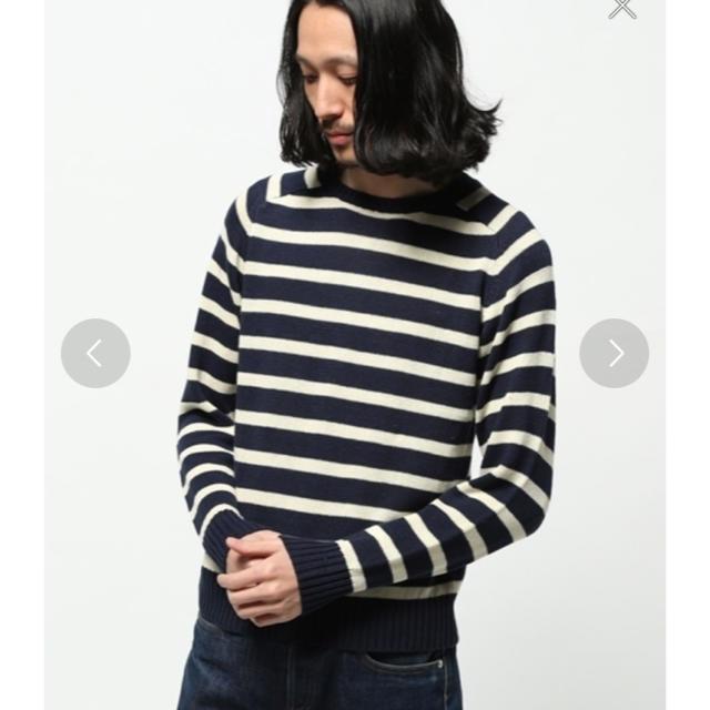SHIPS(シップス)のSHIPS 長袖ボーダーニットセーター メンズのトップス(ニット/セーター)の商品写真