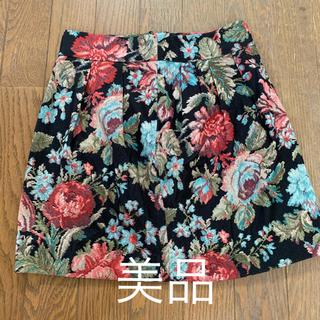 マーキュリーデュオ(MERCURYDUO)の花柄 スカート マーキュリーデュオ(ミニスカート)