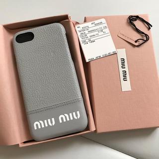 ミュウミュウ(miumiu)のミュウミュウ  iPhone7/8 ケース(iPhoneケース)