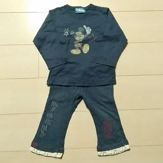ミッキーマウス(ミッキーマウス)のミッキーマウス 上下セット 95サイズ(Tシャツ/カットソー)