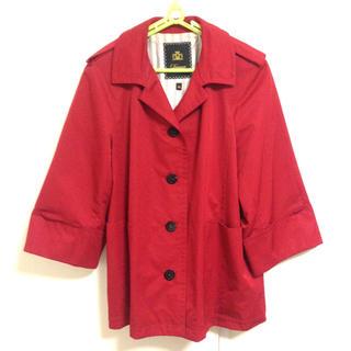 ドゥロワー(Drawer)のDrawer ドゥロワー ジャケット アウター 赤 レッド リボン 羽織り(トレンチコート)