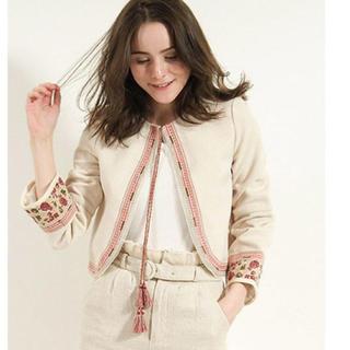 リリーブラウン(Lily Brown)のリリーブラウン  刺繍 ジャケット(ノーカラージャケット)